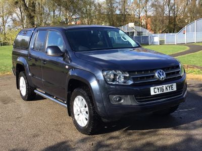 Volkswagen Amarok D/Cab Pick Up Highline 2.0 BiTDI 180 4MOTION Sel Pick Up Diesel Blue at Adams Brothers Isuzu Aylesbury