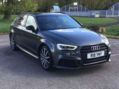 Audi A3 2.0 TDI Black Edition 5dr S Tronic Hatchback Diesel Grey at Adams Brothers Isuzu Aylesbury